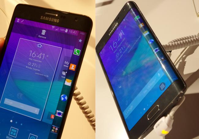 Galaxy Note Edge kaartuva näyttö