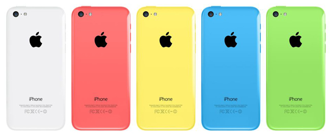 iPhone 5c värit takakuori