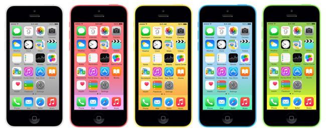 iPhone 5C värjt