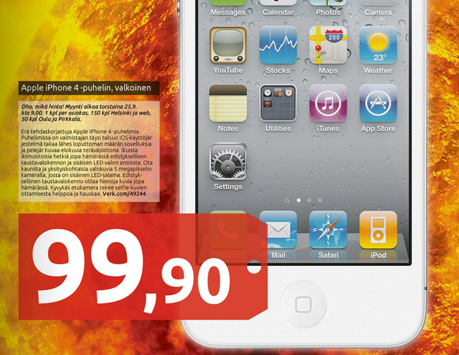 iPhone 4 hinta