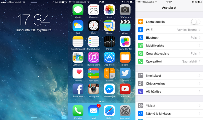 iPhone 6, iOS 8.0.2, UI