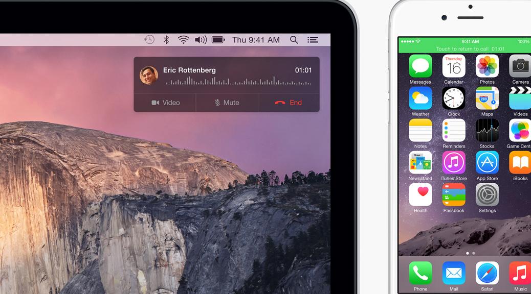 Continuity, OS X, iOS