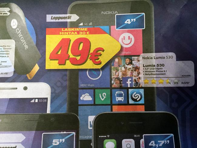 Lumia 530 tarjous
