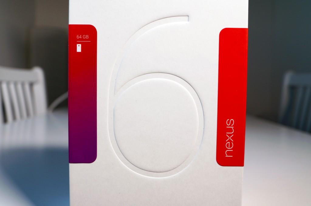 Nexus 6, pakkaus