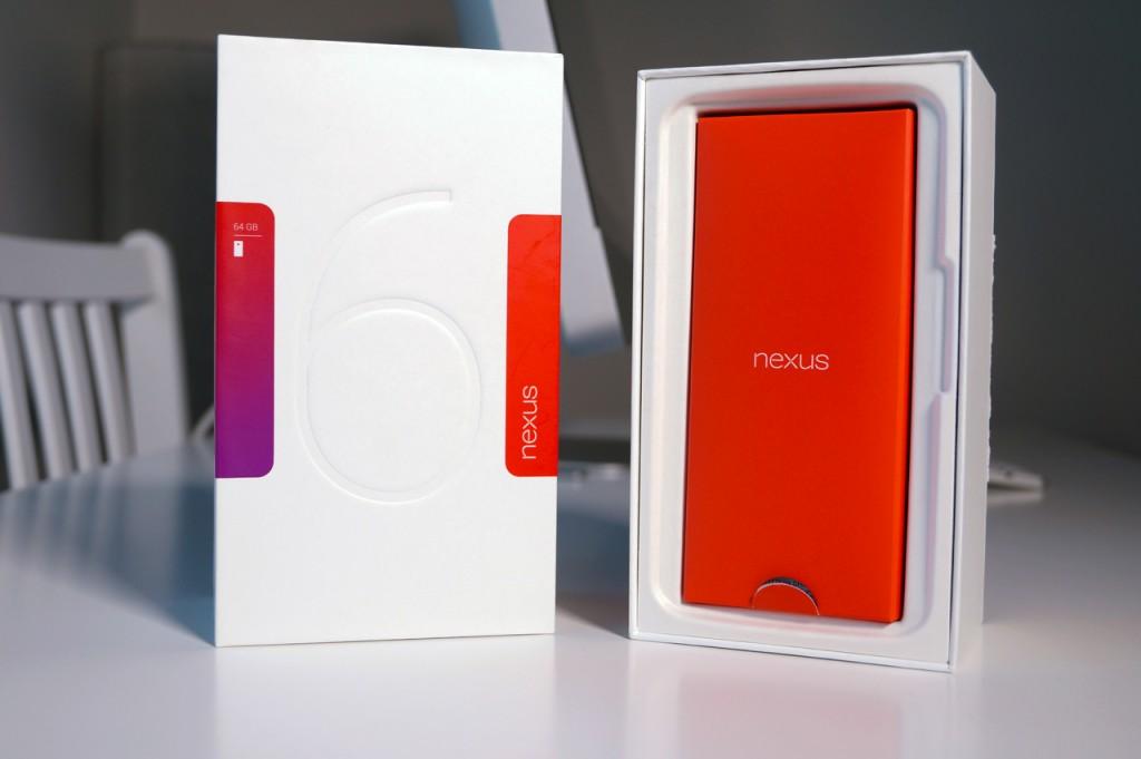 Nexus 6, pakkauksen sisältö