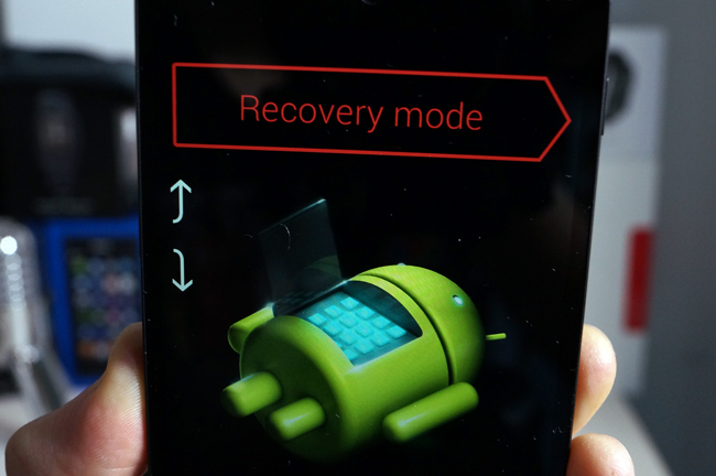 Android Recovery mode, palaustila